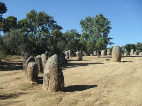 Almendres stone circle, around 6,000 years old
